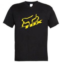 Мужская футболка  с V-образным вырезом FOX Racing - FatLine
