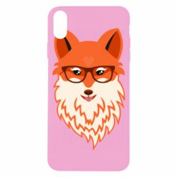 Чехол для iPhone X/Xs Fox with a mole in the form of a heart