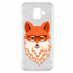 Чехол для Samsung A6 2018 Fox with a mole in the form of a heart
