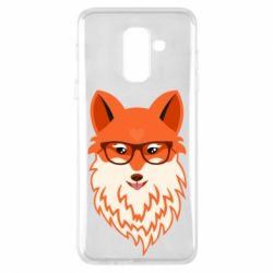 Чехол для Samsung A6+ 2018 Fox with a mole in the form of a heart
