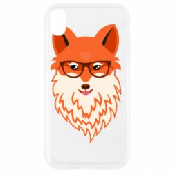 Чехол для iPhone XR Fox with a mole in the form of a heart