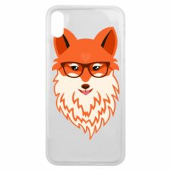 Чехол для iPhone Xs Max Fox with a mole in the form of a heart