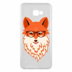 Чехол для Samsung J4 Plus 2018 Fox with a mole in the form of a heart