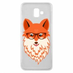 Чехол для Samsung J6 Plus 2018 Fox with a mole in the form of a heart