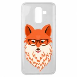 Чехол для Samsung J8 2018 Fox with a mole in the form of a heart