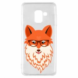 Чехол для Samsung A8 2018 Fox with a mole in the form of a heart