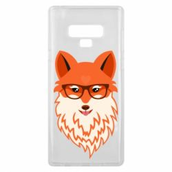 Чехол для Samsung Note 9 Fox with a mole in the form of a heart