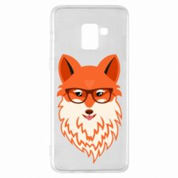 Чехол для Samsung A8+ 2018 Fox with a mole in the form of a heart