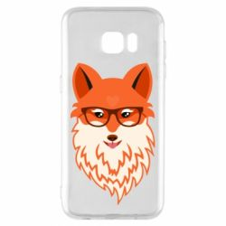 Чехол для Samsung S7 EDGE Fox with a mole in the form of a heart