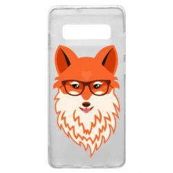 Чехол для Samsung S10+ Fox with a mole in the form of a heart