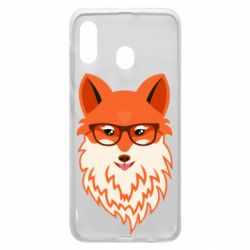 Чохол для Samsung A30 Fox with a mole in the form of a heart
