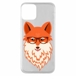 Чехол для iPhone 11 Fox with a mole in the form of a heart