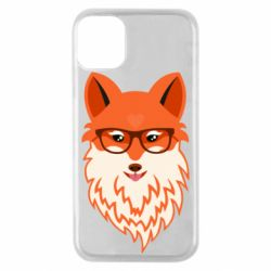 Чехол для iPhone 11 Pro Fox with a mole in the form of a heart