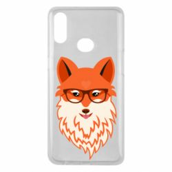 Чехол для Samsung A10s Fox with a mole in the form of a heart
