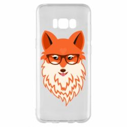 Чехол для Samsung S8+ Fox with a mole in the form of a heart