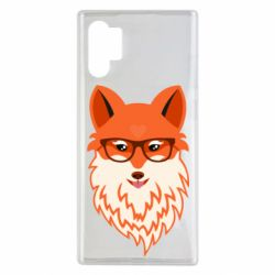Чехол для Samsung Note 10 Plus Fox with a mole in the form of a heart