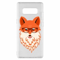 Чехол для Samsung Note 8 Fox with a mole in the form of a heart