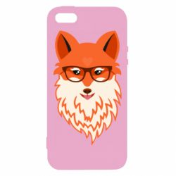 Чехол для iPhone5/5S/SE Fox with a mole in the form of a heart