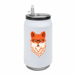 Термобанка 350ml Fox with a mole in the form of a heart