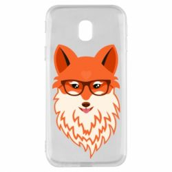 Чехол для Samsung J3 2017 Fox with a mole in the form of a heart