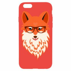Чехол для iPhone 6/6S Fox with a mole in the form of a heart