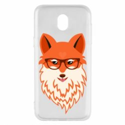 Чехол для Samsung J5 2017 Fox with a mole in the form of a heart
