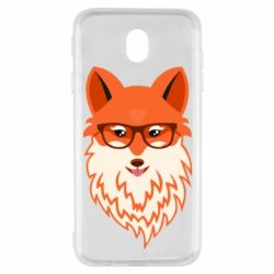 Чохол для Samsung J7 2017 Fox with a mole in the form of a heart
