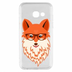 Чехол для Samsung A3 2017 Fox with a mole in the form of a heart