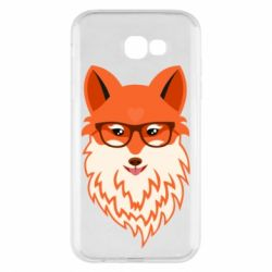 Чехол для Samsung A7 2017 Fox with a mole in the form of a heart