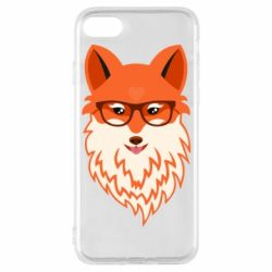 Чехол для iPhone 8 Fox with a mole in the form of a heart