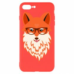 Чехол для iPhone 8 Plus Fox with a mole in the form of a heart