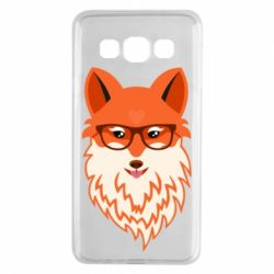 Чехол для Samsung A3 2015 Fox with a mole in the form of a heart