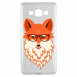 Чехол для Samsung A5 2015 Fox with a mole in the form of a heart