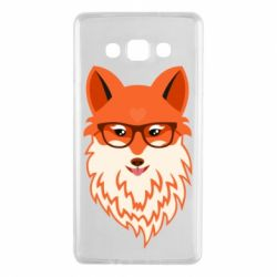 Чехол для Samsung A7 2015 Fox with a mole in the form of a heart