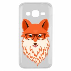 Чехол для Samsung J2 2015 Fox with a mole in the form of a heart