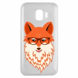 Чехол для Samsung J2 2018 Fox with a mole in the form of a heart