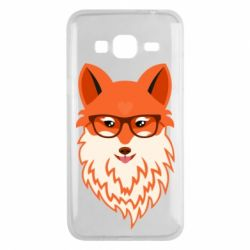 Чехол для Samsung J3 2016 Fox with a mole in the form of a heart