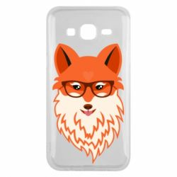 Чехол для Samsung J5 2015 Fox with a mole in the form of a heart