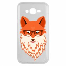 Чехол для Samsung J7 2015 Fox with a mole in the form of a heart