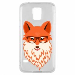 Чохол для Samsung S5 Fox with a mole in the form of a heart