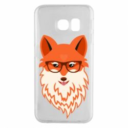 Чехол для Samsung S6 EDGE Fox with a mole in the form of a heart