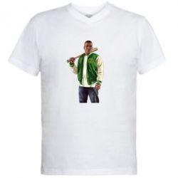 Мужская футболка  с V-образным вырезом Franklin Clinton - FatLine