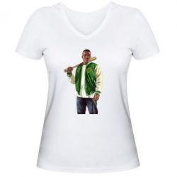 Женская футболка с V-образным вырезом Franklin Clinton - FatLine