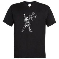 Чоловіча футболка з V-подібним вирізом Freddie Mercury Queen