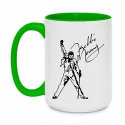 Кружка двоколірна 420ml Freddie Mercury Queen