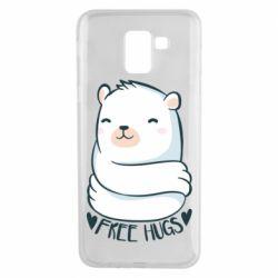 Чохол для Samsung J6 Free hugs bear