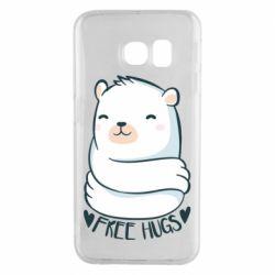 Чохол для Samsung S6 EDGE Free hugs bear