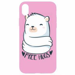 Чохол для iPhone XR Free hugs bear