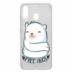 Чохол для Samsung A20 Free hugs bear