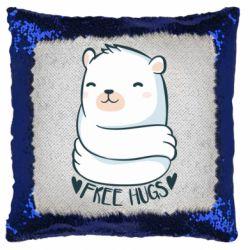 Подушка-хамелеон Free hugs bear